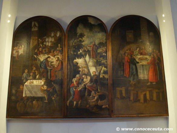 Tríptico S.XVIII restaurado, Catedral de Ceuta.