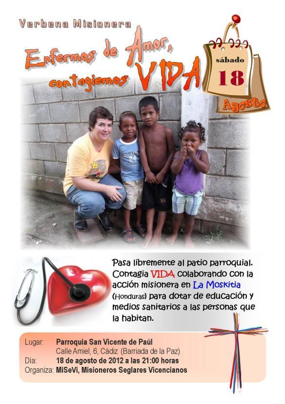 Cartel anunciador de la Verbena Misionera