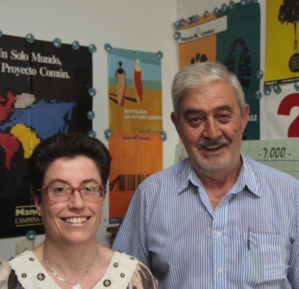 Joaquín García de los Ríos y María Mercedes Canca son las personas al frete de esta asociación en Ceuta. Foto: El Faro de Ceuta (2010)