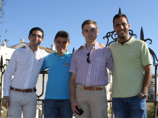 De izquierda a derecha: Manuel Gómez, Juan Ramón Rouco, Antonio Jesús López e Iván Llovet