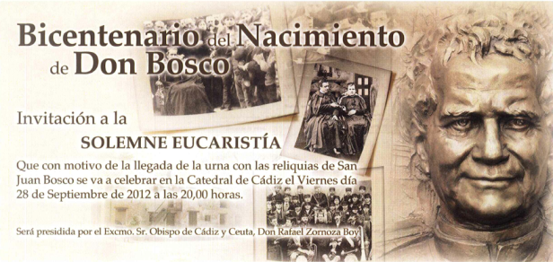 La reliquia de Don Bosco en la diócesis de Cádiz y Ceuta