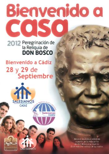 Don Bosco llegará a la ciudad de Cádiz el viernes 28 de septiembre