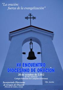 Cartel XX Encuentro Diocesano de Oración en Campano