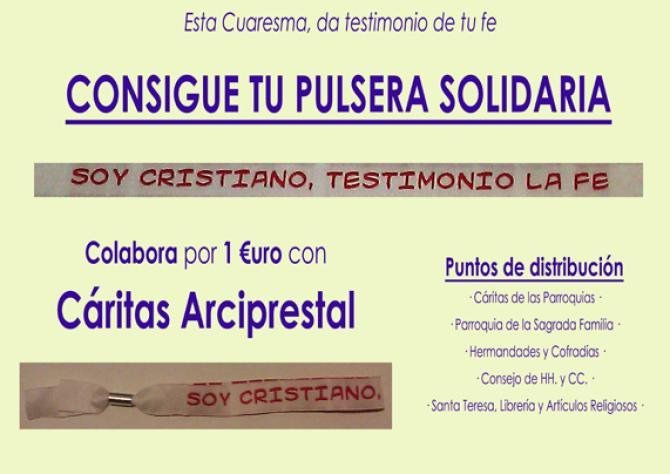 Cartel Pulsera Soy Cristiano Testimonio