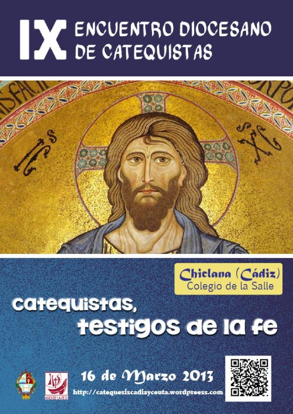 CARTEL IX ENCUENTRO CATEQUISTAS CHICLANA OFICIAL