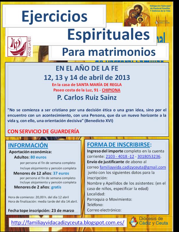 cartel definitivo ejercicios espirituales imagen