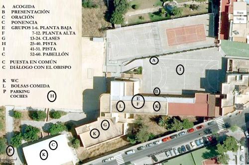 Mapa Colegio con indicaciones para el IX Encuentro