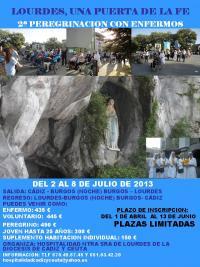 Cartel peregrinacion Lourdes Hospitalidad 2013_0