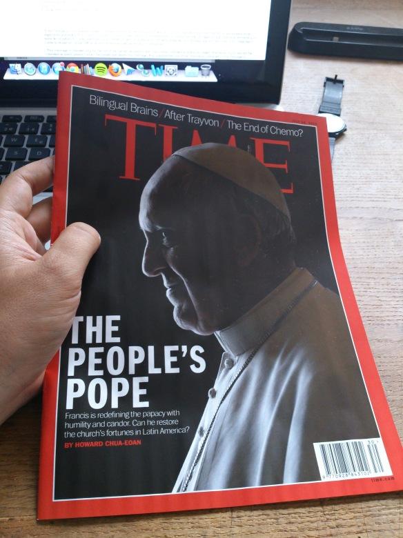 La portada del Time entre mis manos