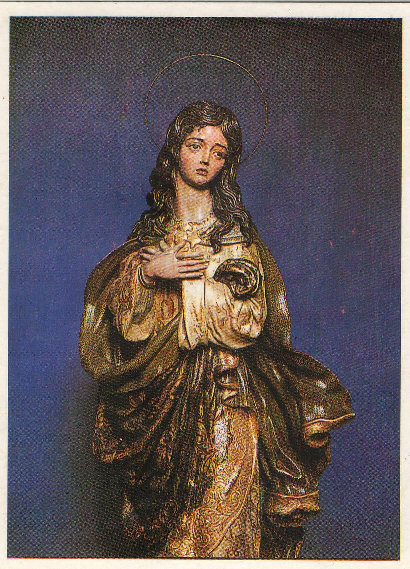 Imagen de la Inmaculada Concepción, patrona de La Línea, obra del imaginero sanroqueño Luis Ortega Bru.Imagen de la Inmaculada Concepción, patrona de La Línea, obra del imaginero sanroqueño Luis Ortega Bru.