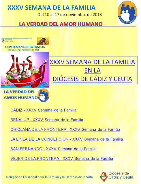 PROGRAMA DIOCESANO SEMANA DE LA FAMILIA