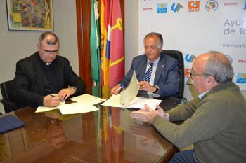 Momento de la firma del convenio