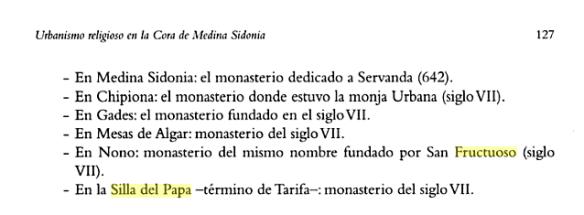 Texto sobre urbanismo religioso en la Cora de Medina Sidonia