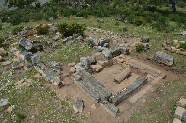 Iglesia visigótica de la Silla del Papa. Foto tomada en la reciente campaña arqueológica